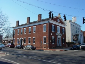 The Farmer's Bank building--home of John Washington's owner.