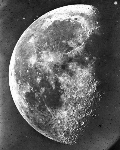 The moon in 1863. At the very same time that Walt Whitman was finding moonlit scenes on earth so compelling yet so resistant to easy understanding, amateur astronomer Henry Draper found the same source of reflected light itself yielding to greater earthly understanding, via his camera and telescope at Hastings-on-Hudson, New York. Draper made this photograph and some 1,500 other images of the moon in 1863. These represented its most detailed photographic documentation ever, and still considered so four decades later. Courtesy of Hastings Historical Society.