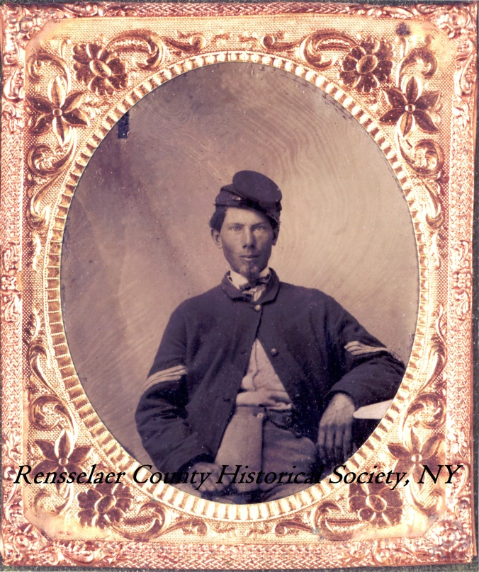 Image of Rice Bull, 123rd New York, in uniform